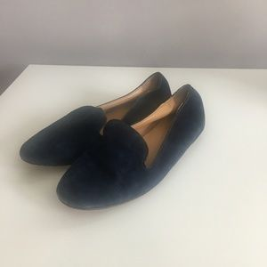 J. Crew Navy Addie Suede Loafers